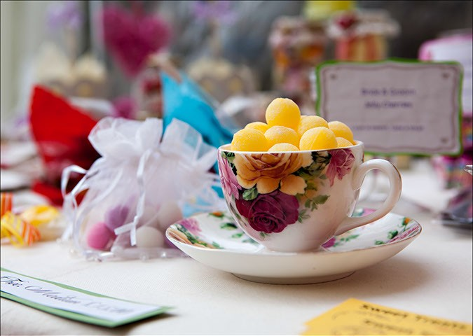 Sweets in a tea cup