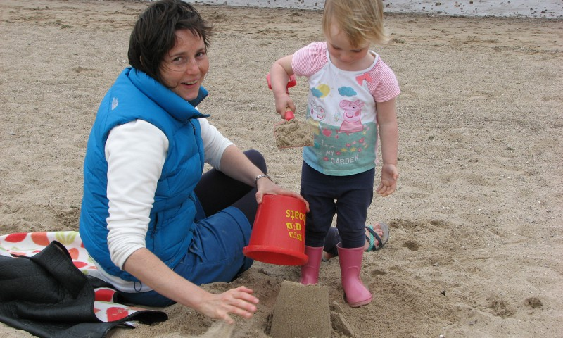 sandcastle-making