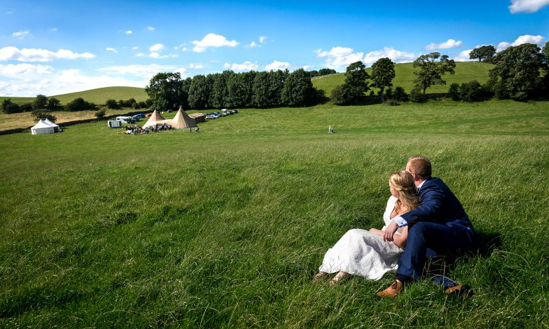 Bride Groom in Meadow