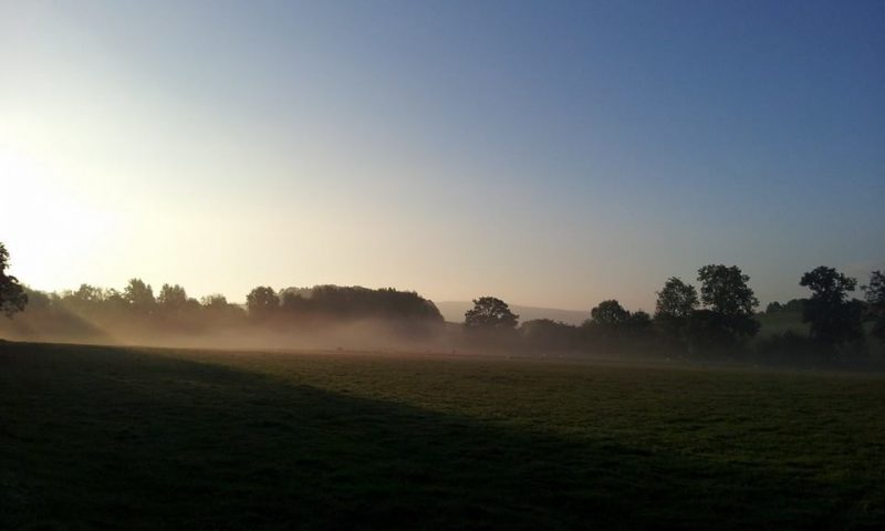 Morning mist at Newton Grange