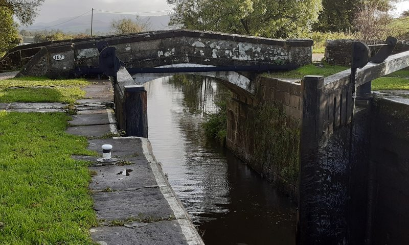 Canal bridge and lock
