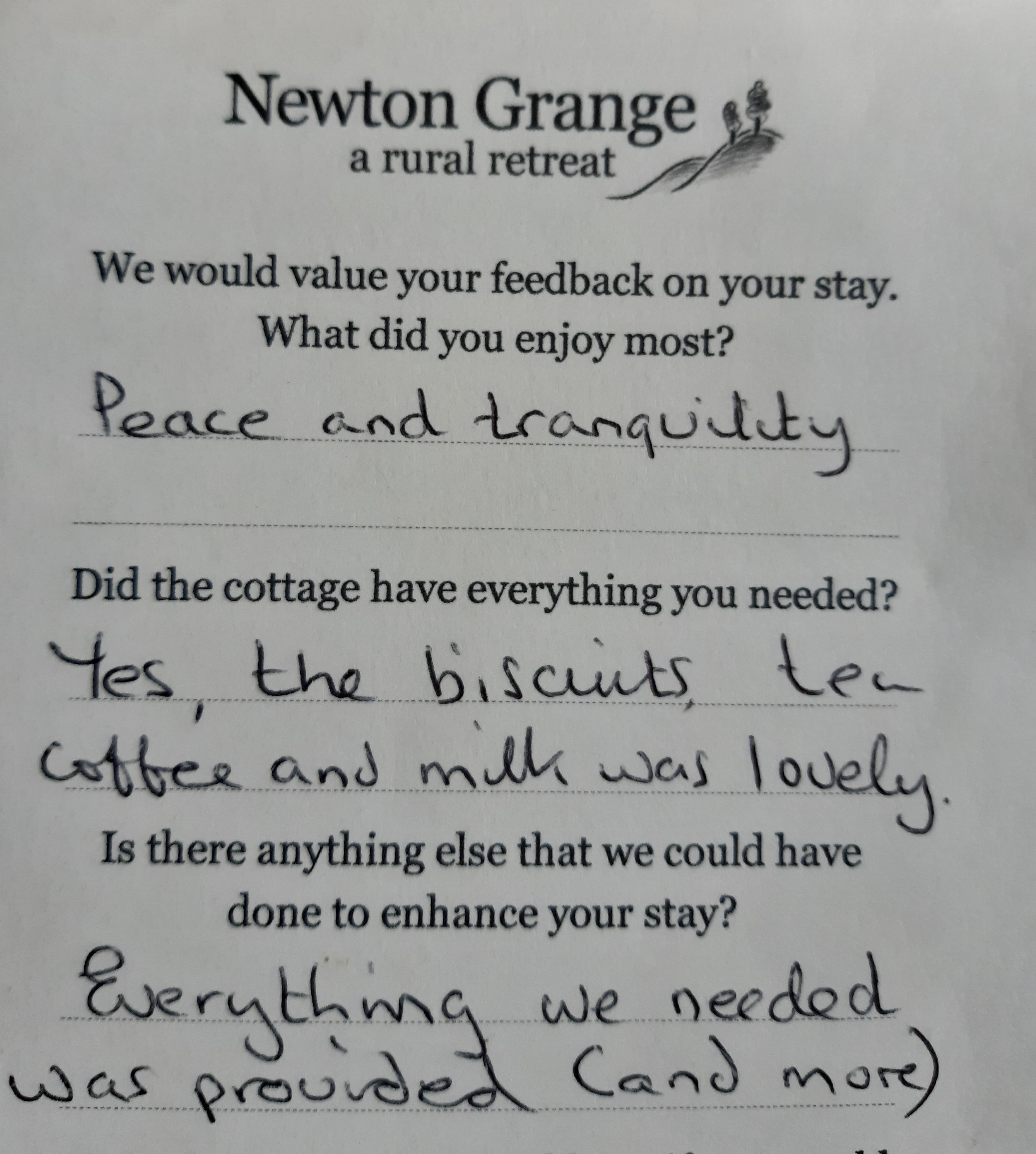Newton Cottage Review